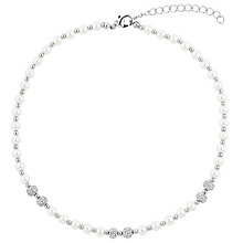 Mikey Crystal Bead & Imitation Pearl Necklace - Product number 2868482