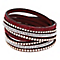 Mikey Crystal & Red Leather Wrap Bracelet - Product number 2868520