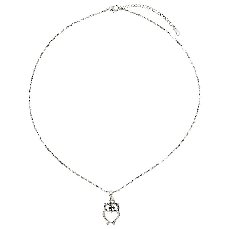 Mikey Silver Tone Owl Pendant - Product number 2868547