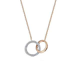 Buckley Rose Gold Plate & Cubic Zirconia Linked Loop Pendant - Product number 2868555