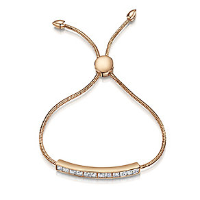 Buckley Rose Gold Plated Cubic Zirconia Friendship Bracelet - Product number 2868598