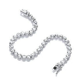 Buckley Rhodium Plated Cubic Zirconia Tennis Bracelet - Product number 2868601