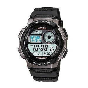 casio watches edifice g shock solar digital h samuel casio men s black resin world time digital watch product number 2871416