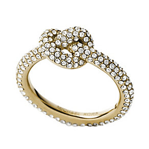 Gold-plated stone set knot ring size 7 - Product number 2872463