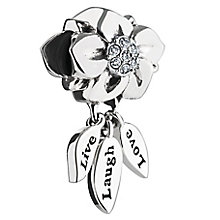 Chamilia Live, Laugh, Love Swarovski crystal charm - Product number 2872722