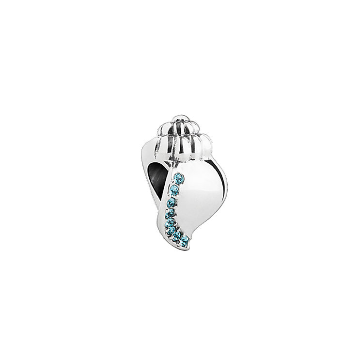 Chamilia Ocean Sounds shell bead with Swarovski Indicolite - Product number 2873044