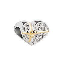 Chamilia Heart of Gold sterling silver and gold-plated bead - Product number 2873664