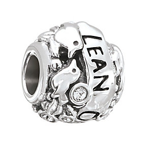 Chamilia Sterling Silver & Swarovski Crystal Lean On Me Bead - Product number 2873729