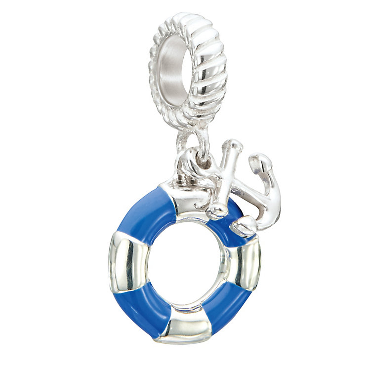 Chamilia Sterling Silver Blue Anchors Away Bead - Product number 2873818