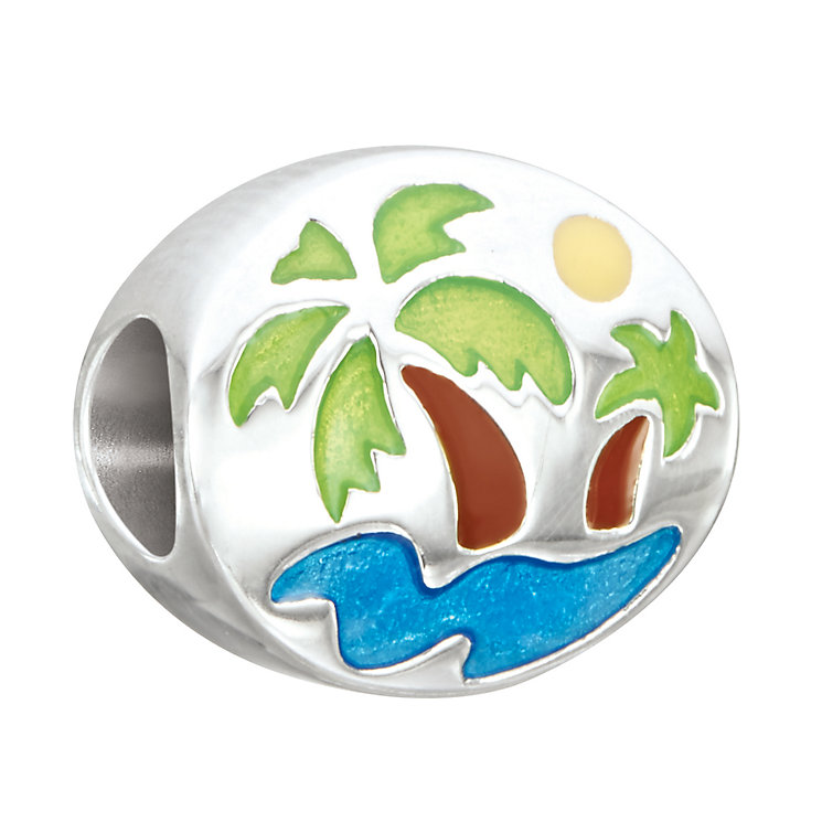 Chamilia Silver & Swarovski Crystal Oasis Beach Bead - Product number 2874059