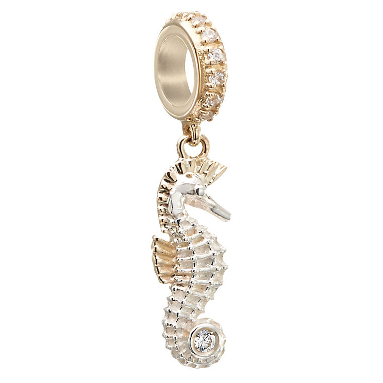 Chamilia Silver, Gold & Swarovski Zirconia Seahorse Bead - Product number 2874091