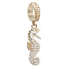 Chamilia Silver, Gold & Swarovski Zirconia Seahorse Bead - Product number 2874091