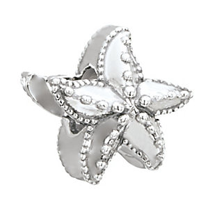Chamilia Sterling Silver Milgrain Detail Starfish Bead - Product number 2874105