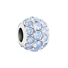 Chamilia Silver & Blue Opal Swarovski Crystal Splendor Bead - Product number 2874253