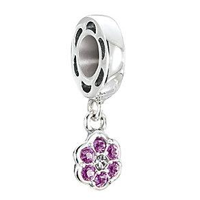 Chamilia Petites Rosette amethyst Swarovski elements bead - Product number 2874288