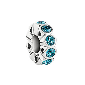 Chamilia Silver & Turquoise Swarovski Crystal Whimsy Bead - Product number 2874326