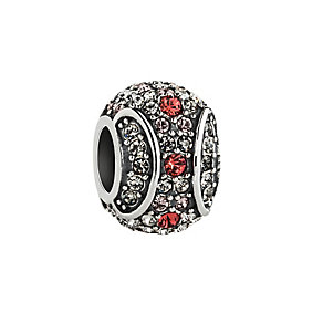 Chamilia Silver & Siam Swarovski Crystal Crystallized Bead - Product number 2874393
