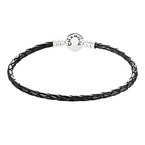 Chamilia sterling silver and leather braided bracelet medium - Product number 2874830