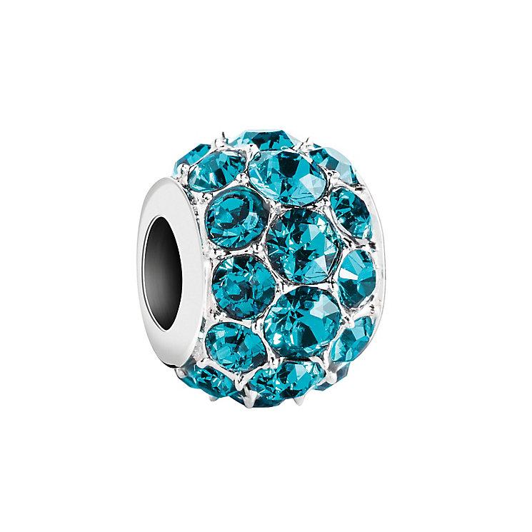Chamilia Silver Blue Zircon Swarovski Crystal Splendor Bead - Product number 2876094