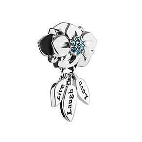 Chamilia Silver & Swarovski Crystal Live, Laugh, Love Bead - Product number 2876280