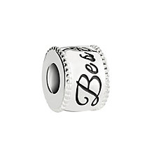 Chamilia Silver & Swarovski Crystal Best Wishes Banner Bead - Product number 2876329