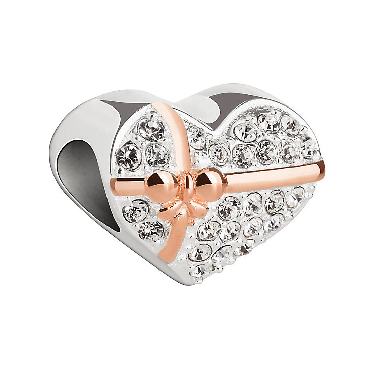 Chamilia Silver, Gold & Swarovski Crystal Heart of Gold Bead - Product number 2876426
