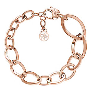 DKNY Rose Gold Tone Link Chain Must Have Bracelet - Product number 2876779