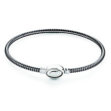 Chamilia Iconic sterling silver textured bangle large - Product number 2877058