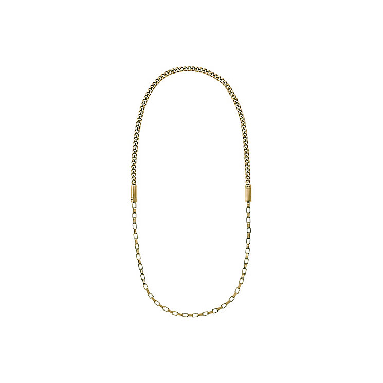 DKNY Chambers Yellow Gold Tone Chain Necklace - Product number 2877066