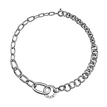 Hot Diamonds Sterling Silver Halo Trio of Diamond Bracelet - Product number 2877201