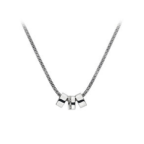 Hot Diamonds Sterling Silver & Diamond Trip Hoop Necklace - Product number 2877236
