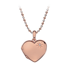 Hot Diamonds Rose Gold Plated Diamond Heart Pendant - Product number 2877309