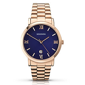 Sekonda Men's Rose Gold Plated Bracelet Watch - Product number 2877554