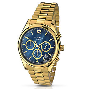Sekonda Men's Chronograph Gold-Plated Bracelet Watch - Product number 2879034