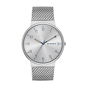 Skagen Men's Ancher Silver Tone Mesh Strap Watch - Product number 2881020