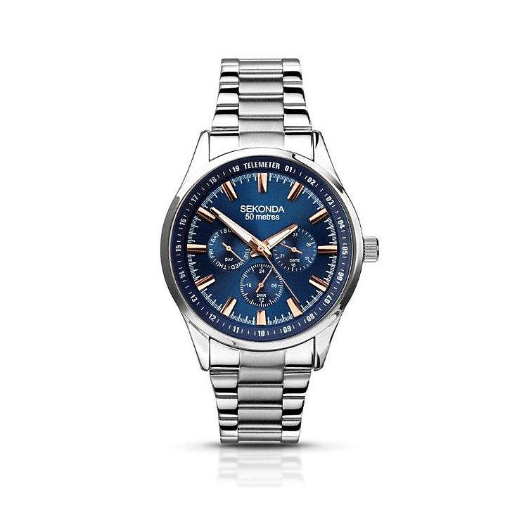 Sekonda Men's Blue Dial Stainless Steel Bracelet Watch - Product number 2881144
