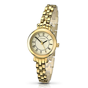Sekonda Ladies' White Dial Gold-Plated Bracelet Watch - Product number 2881179