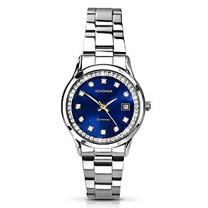 Sekonda Ladies' Stainless Steel Black Dial Watch - Product number 2881209