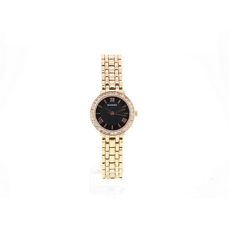 Sekonda Ladies' Black Sunray Dial Bracelet Watch - Product number 2881225
