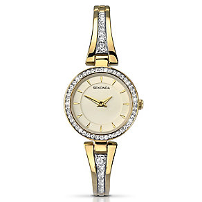 Sekonda Ladies' Champagne Dial Half-Bangle Watch - Product number 2881241