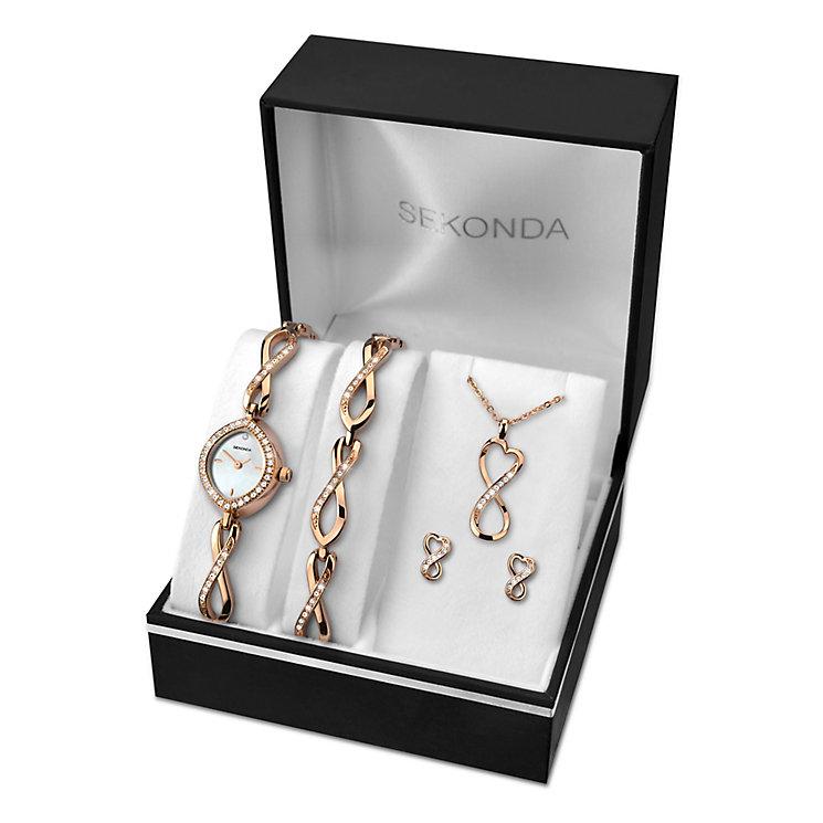 Sekonda Ladies' Watch Bracelet Earring & Pendant Set - Product number 2881357