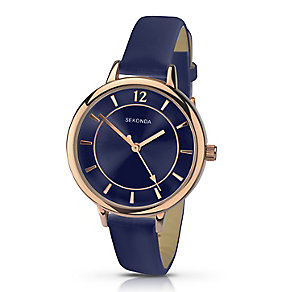 Sekonda Editions Ladies' Blue Strap Watch - Product number 2881594