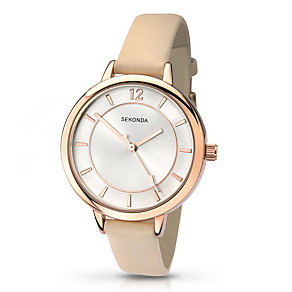 Sekonda Editions Ladies' Cream Strap Watch - Product number 2881713