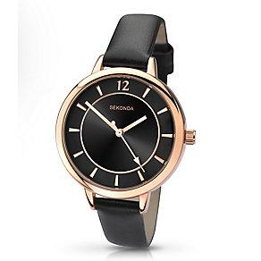 Sekonda Editions Ladies' Black Strap Watch - Product number 2881837