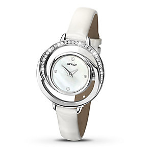 Sekonda Seksy Ladies' Swarovski Element White Strap Watch - Product number 2882183