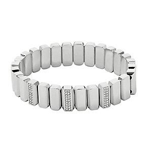 Fossil Vintage Glitz Silver Tone Crystal Set Bracelet - Product number 2882477