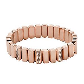 Fossil Vintage Glitz Rose Gold Tone Crystal Set Bracelet - Product number 2882485