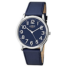 Limit Men's Silver Tone & Navy Blue Strap Watch - Product number 2882787