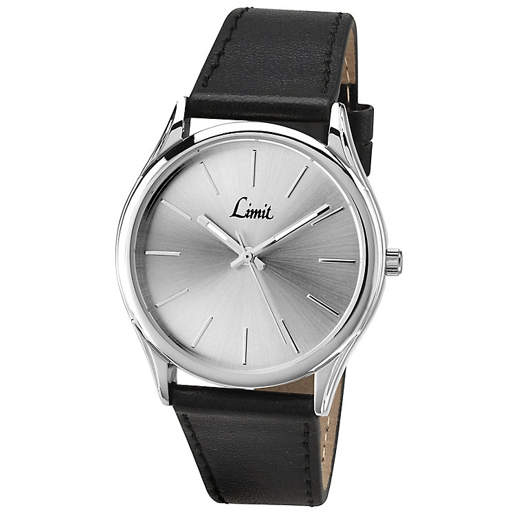 Limit Men's Silver Tone Dial & Black Strap Watch - Product number 2882825