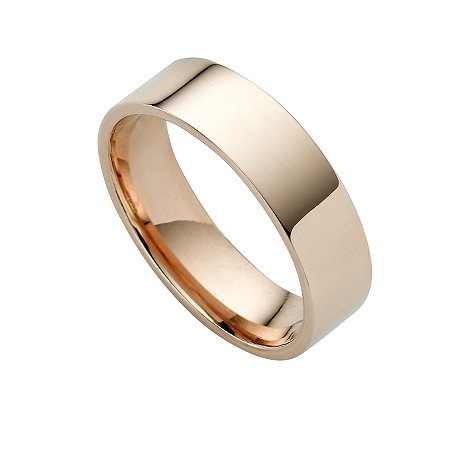 9ct gold super heavy flat 6mm wedding ring